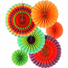 12pc Mexican Paper Fans Fiesta Mexican Party Hanging Decorations Supplies