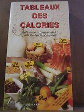 Tableaux des Calories, Sels minéraux- Vitamines - Protides/ Editions S.A.E.P.