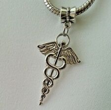 8 RN charms antique silver tone MD6 registered nurse