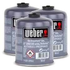 3x Weber Gas Kartusche 26100 für Q 100 Serie und Performer Touch-N-Go