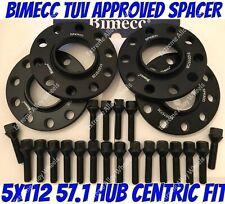 Alloy Wheel Spacers 15mm 20mm Skoda Karoq Octavia Superb Black Bimecc 5x112 57.1