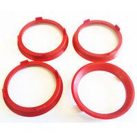 66.6 - 57.1 Spigot Rings, Set of 4, Hub Rings, TUV Approved, VW AUDI SEAT SKODA