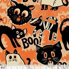 SPOOKTACULAR EVE HALLOWEEN BOO CATS FABRIC