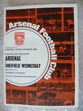 1969-70 Arsenal v Sheffield Wednesday, 6th Sept with Voucher
