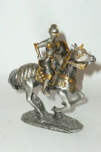 Veronese? 10cm Stagno Cavaliere Reiter Figure Stagno Figure Peltro Cavaleiere