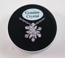 Genuine Crystal Snowflake Necklace In a Tin Gift Box with $24.99 Tags  #N2043A