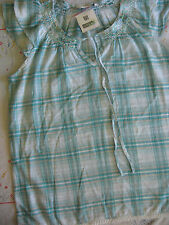NEW WOMENS CLOTHES CHECK BLOUSE / SMOCK TOP EDITIONS SEQUINS UK SIZE 12 BNWT