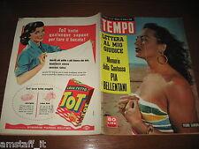 RIVISTA TEMPO 1956/43=YVONNE SAMSON=JACQUELINE SASSARD=TRAGEDIA TERRAZZANO RHO