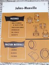 Johns-Manville Packings/Linings/Blocks Catalog Asbestos