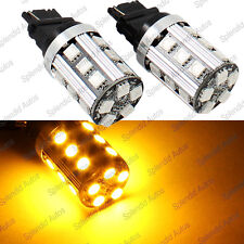 Amber Error Free No Resistor Required 3156 3457 3357 LED Turn Signal Light Bulbs
