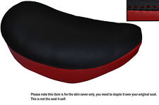 BLACK & DARK RED CUSTOM FITS SUZUKI LS 650 SAVAGE FRONT LEATHER SEAT COVER