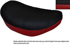 BLACK & DARK RED CUSTOM FITS SUZUKI LS 650 SAVAGE FRONT LEATHER SEAT COVER