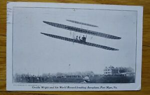 Orville Wright Flying at Fort Meyer in 1909