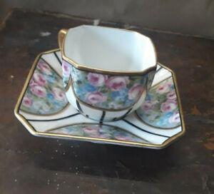 Vintage Fraureuth Porcelain Demitasse Sontag & Sohne Art Deco