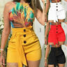 Women Summer Pants High Waist Shorts Belt Beach Short Trousers Fashion S-5XL