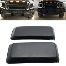 FOR 2018 2019 2020 FORD F150 FRONT BUMPER GUARDS INSERTS PADS CAPS  BLACK PAIR