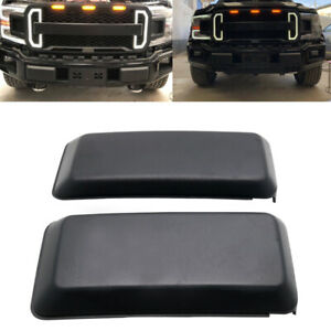 FOR 2018-2020 FORD F150 FRONT BUMPER GUARDS INSERTS PADS CAPS BLACK PAIR US SHIP
