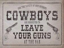 Cowboy, Retro Vintage Cool Signo de Metal de Aluminio Gracioso Bebida Bar Pub