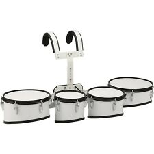Sound Percussion Labs Marching Tenor Drum mit Tragegestell 8, 10, 12, 13 in. weiß LN