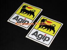 """2x 2"""" 51mm Agip decal sticker alfa romeo ferrari ducati fiat lancia GTA vinyl f1"""