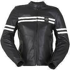 FURYGAN GTO femme en cuir moto Moto veste noir NEUF-petit