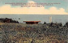 c.1910 Grave of Samuel Pierpont Fisher's Island LI NY post card Fishers