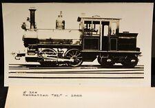 "ANTIQUE TRAIN PHOTO-MANHATTAN ""EL"" TRAIN # 164  CIRCA 1888 RPPC"