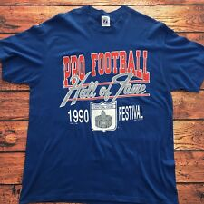 958591bf1 NFL Pro Football Hall of Fame 1990 Festival Vintage USA Made Blue T-Shirt -