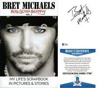 Bret Michaels Signed Autoscrapography Paperback Book Beckett Poison Autograph