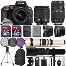 Nikon D5600 DSLR Camera + 18-55mm AF-P Lens + 70-300mm + 650-1300mm + 500mm Lens