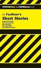 Cliffs Notes: Faulkner's Short Stories 0 by James L. Roberts (2012, CD,...