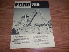 FORD 750 TRACTOR BROCHURE AD LITERATURE