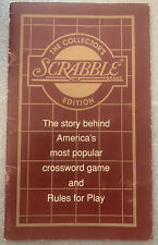 Franklin Mint Scrabble Collector's Edition - Rule Book