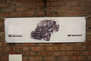Honda S2000 Ap1 Ap2   large pvc  WORK SHOP BANNER garage  SHOW BANNER