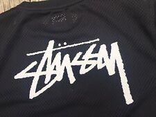 Stussy Black Mesh Logo Shirt Mens Jersey Summer Breeze Breathable Cool Size L