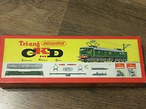 TRIANG R388 CKD BR GREEN EM2 WOODHEAD 27000, PANTOGRAPHS EXCELLENT BOXED