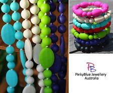 Silicone Sensory Jewellery Mum Necklace Beads and Bracelet Set Autism Aspergers