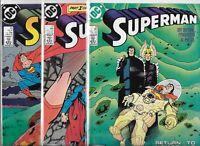 Superman #18, #21 & #23   Lot of 3 (1988, DC Comics)