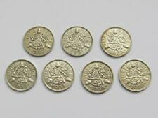 More details for george vi silver threepences  1930,31,32,33,34,35, & 36  very good collectables