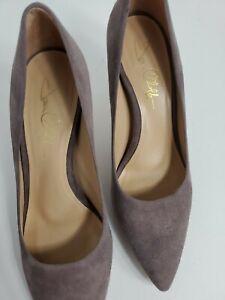 "Joan Oloff womans Leather Sparrow Suede  3"" Stiletto Heel Pump 8.5M"