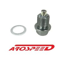 AROSPEED 20X1.5MM RACING MAGNETIC OIL DRAIN PLUG BOLT W/ CRUSH WASHER GUNMETAL