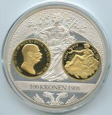 GN1149 - Medaille Gigant Kaiser Franz Joseph I. 100 Kronen 1908 Austria