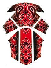 Protection de réservoir moto Bandana coloris rouge adhésive en 6 parties neuve