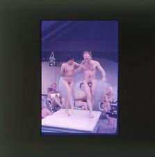 1950's NUDIST OUTDOORS NUDE GIRLS + MALES ORIGINAL 35mm PHOTO SLIDE NU-081