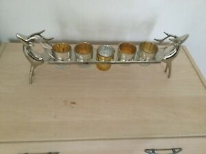 SILVER COLOURED CANDLE HOLDER