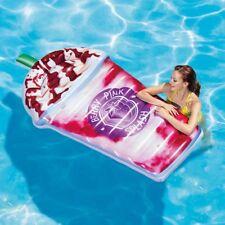 Intex Inflatable Berry Pink Splash Milkshake Pool Float Lounger Beach Mattress