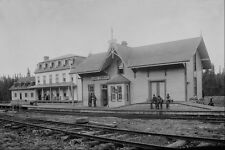 552051 Québec et Lake St John Railway Station C1895 144180 A4 Imprimé Photo