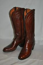 LUCCHESE WOMENS 6 A brown fancy LEATHER Western COWBOY TALL BOOTS rockabilly