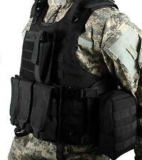 Black Airsoft Tactical Vest / Paintball Molle Vest / Combat Plate carrier vest