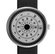 """Projects Watches """"Vault"""" Quarzo Acciaio Inox Grigio Pelle Nero Orologio Unisex"""